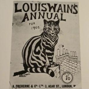 Vintage Louis Wain Book Print